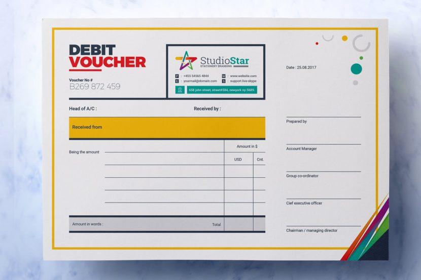 Debit And Credit Voucher Design Template