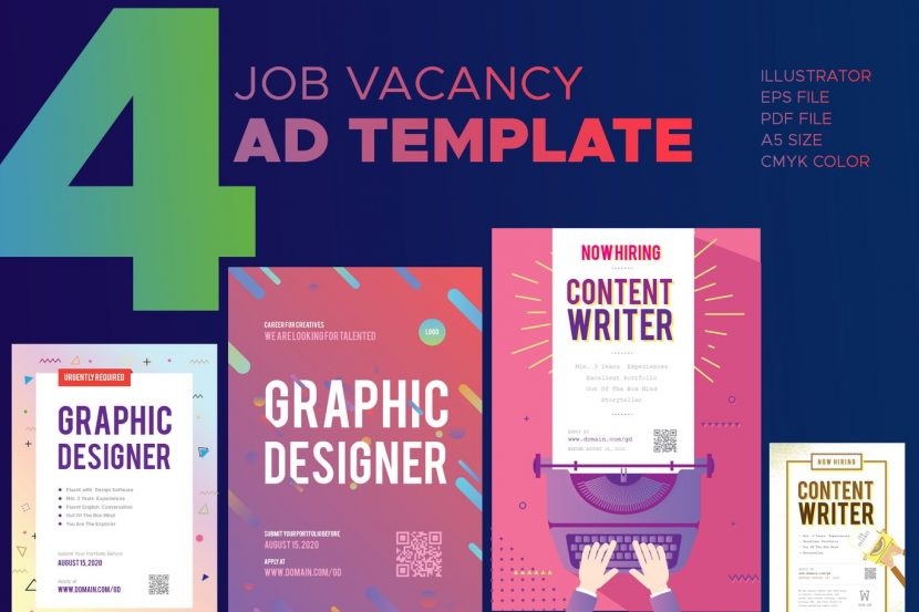 job vacancy advertisement template weidea
