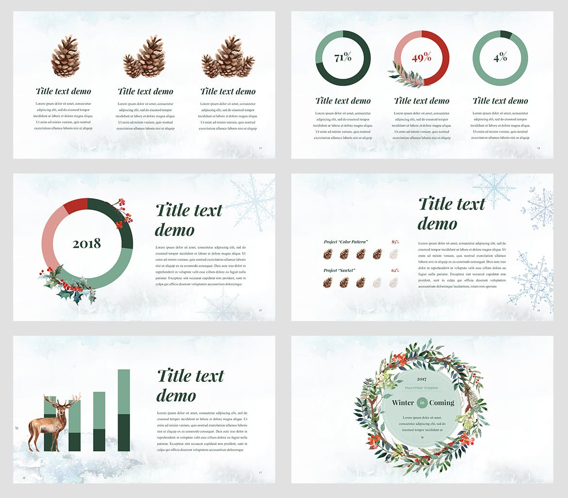 Winter watercolour powerpoint template weidea winter watercolour powerpoint template with included graphics alramifo Images