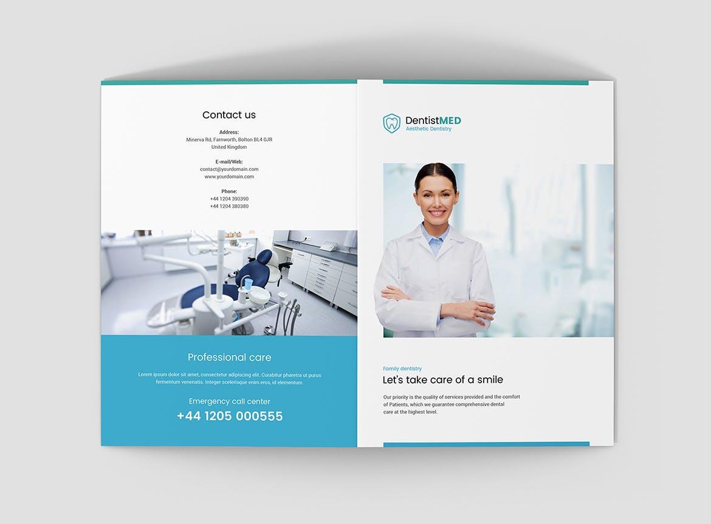 牙医双折宣传册模板设计适用于商业,企业,公司,医院,口腔医学,牙医,办公室,护理等等。 这个模板是完全可编辑的。 您可以使用不同的字体,颜色和背景。 特征: 智能对象 A5尺寸 – 14,821厘米(打印尺寸 – 29,721厘米) 半字母尺寸 – 5,58.5英寸(打印尺寸 – 118.