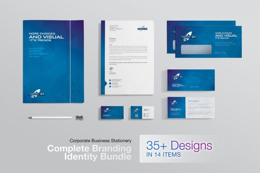 creative clean business corporate identity pack weidea