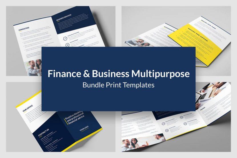 finance and business brochures bundle 8 in 1 weidea