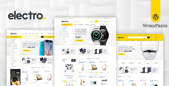 Electro Electronics Store WooCommerce Theme V2.0.5 | weidea