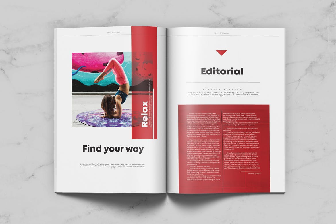 Sport magazine weidea sport magazine was designed as an universal magazine template with original structured editorial layout template can be easily used for many editorial maxwellsz