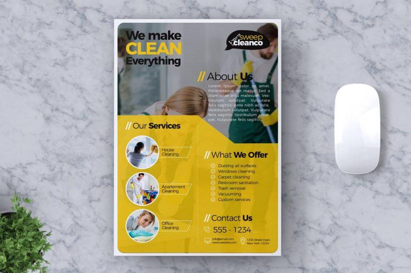 Cleaning Service Flyer Template Vol 01 Weidea