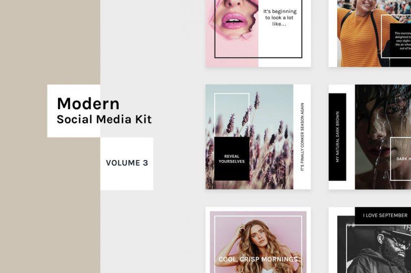 . Modern Social Media Kit  Vol  3    weidea