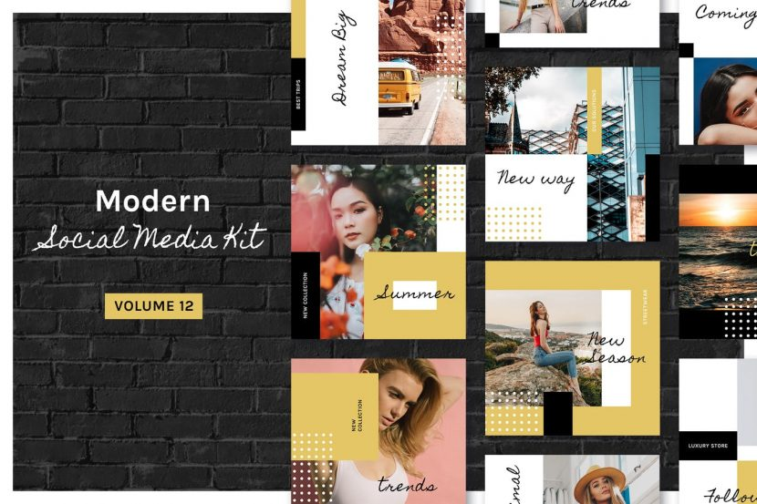 . Modern Social Media Kit  Vol  12    weidea