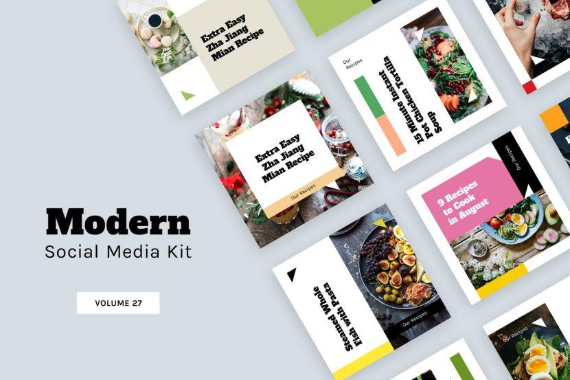 . Modern Social Media Kit  Vol  27    weidea