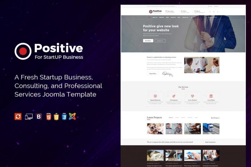 Positive – Startup Business Joomla Template   weidea