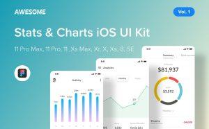 Awesome iOS UI Kit – Navigation Vol  2 (Figma) | weidea