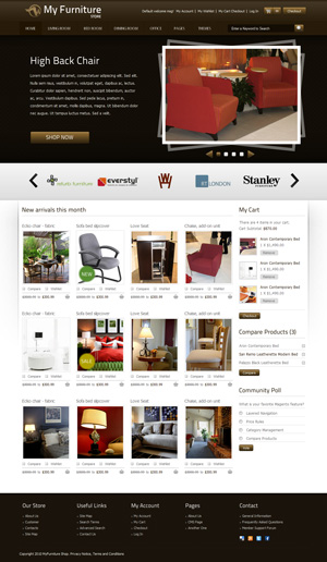 Furniture Store html css template