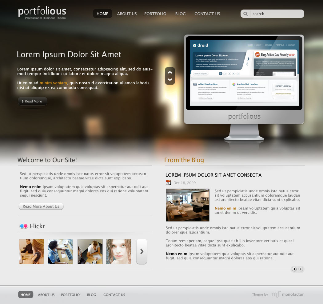 portfolious wordpress theme