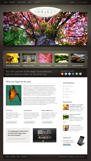 traject wordpress portfolio and business theme