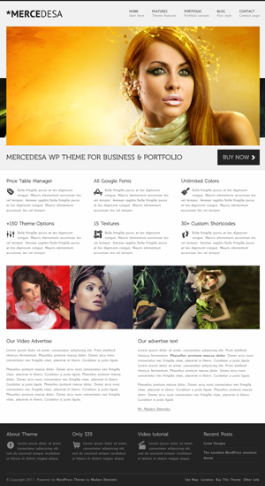 Mercedesa WordPress theme
