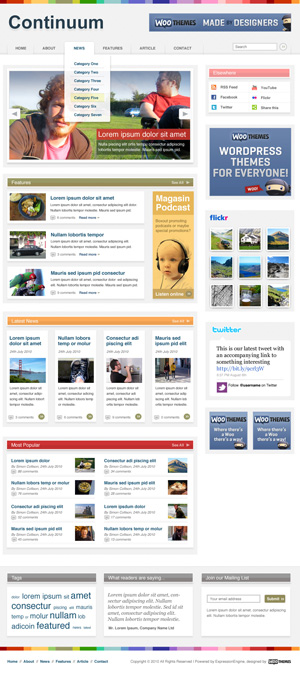 continuum wordpress theme