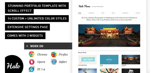 halo stunning wordpress portfolio theme