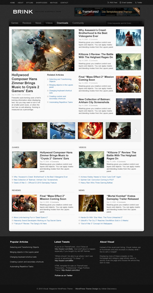 Brink Magazine WordPress Theme