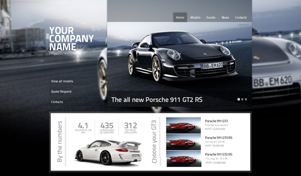 Cars Dealer Full featured WordPress 3 Template