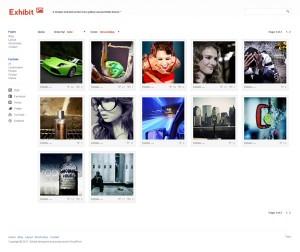 Exhibit Simple Gallery Portfolio WordPress Theme