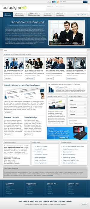 S5 paradigm shift Joomla template
