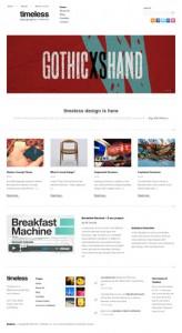 timeless Minimal Typographic WordPress Theme
