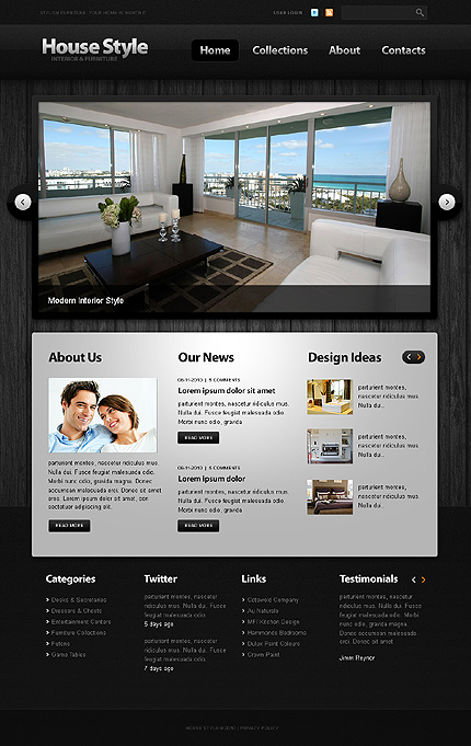 TM House Style WordPress theme