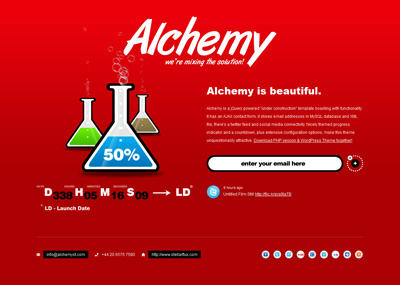 Alchemy Under Construction WP Theme