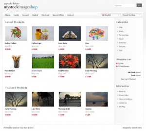 My Stock Image Shop Opencart Template