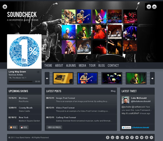 Soundcheck WordPress Audio Theme