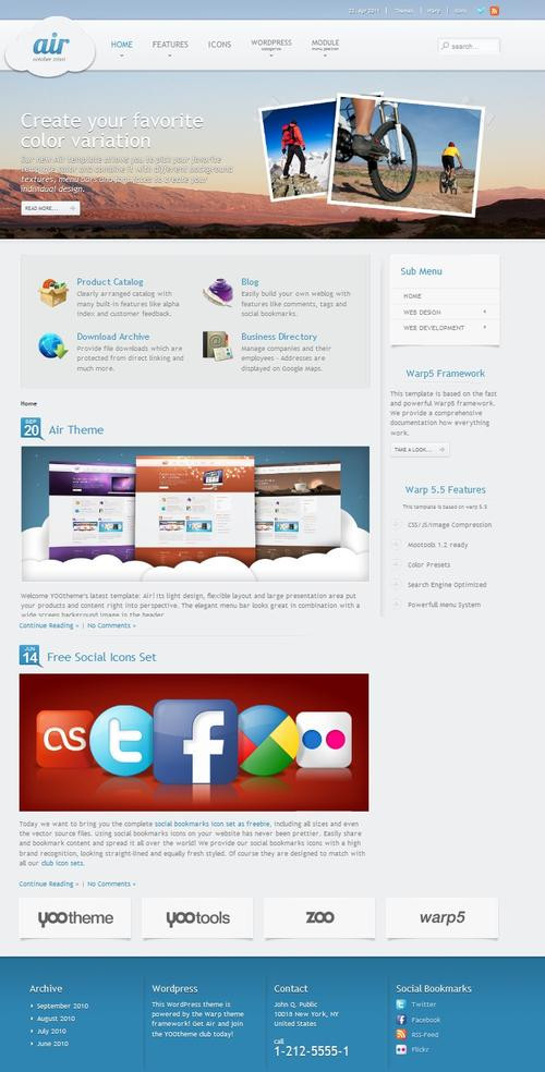 YT Air joomla template