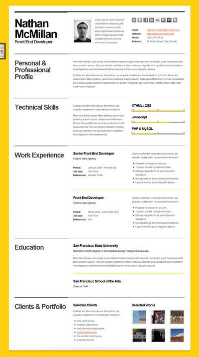 bold-cv-resume-template-minimal-smart