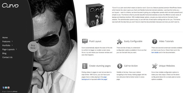 Curvo Horizontal Premium WP Theme