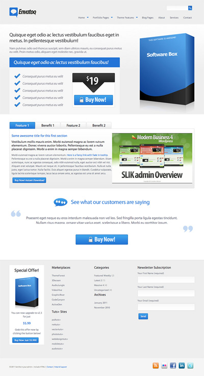 Oceanic Premium WordPress Theme