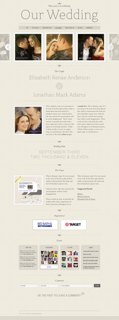 announcement wordpress theme