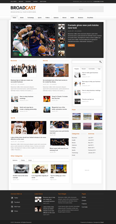Broadcast Magazine WordPress Theme