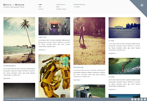 Brick  Mason Premium Photography and Blog Theme
