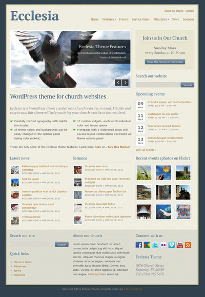 Ecclesia WordPress Theme for Church Websites