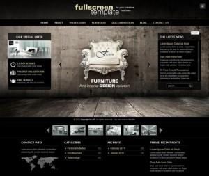 Fullscreen Business & Portfolio WordPress Theme