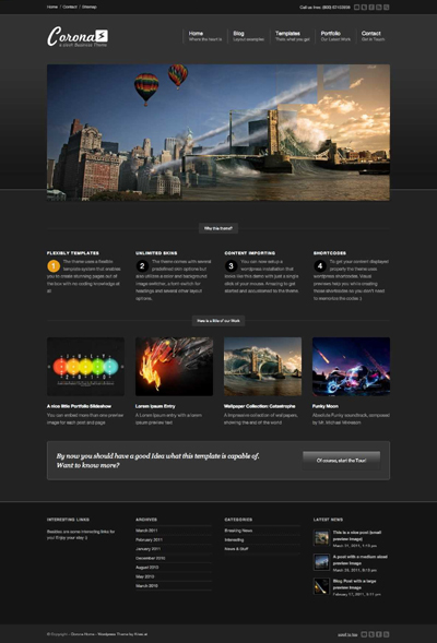 Corona Business & Portfolio Theme
