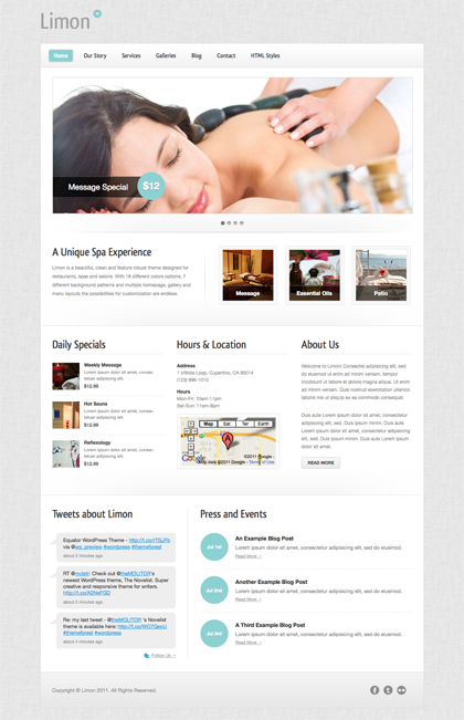 limon spa wordpress theme