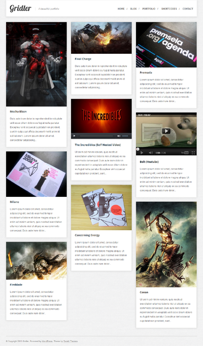 Gridler WordPress Portfolio Theme