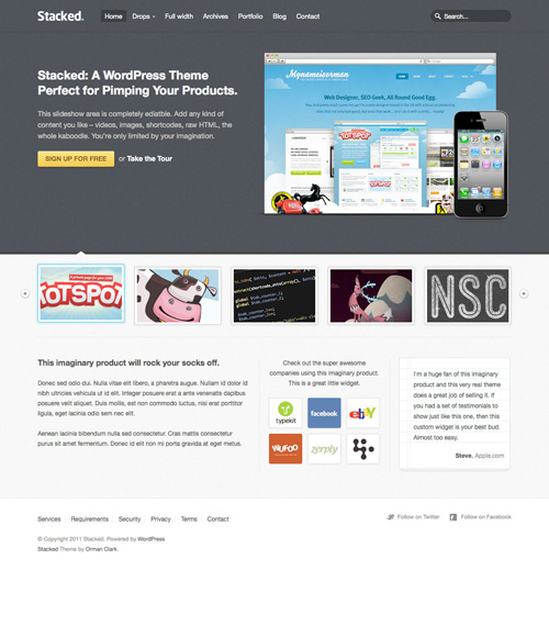 Stacked Business & Portfolio WordPress Theme