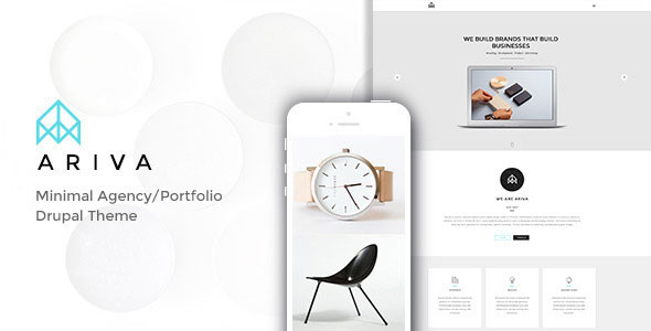 Ariva - Minimal Drupal Theme with Builder