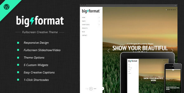 BigFormat v1.4.2 - Responsive Fullscreen Wordpress Theme