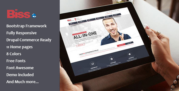 Biss - Multipurpose Commerce Drupal theme