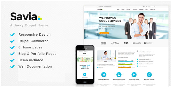Savia - Responsive Multi-Purpose Drupal Theme