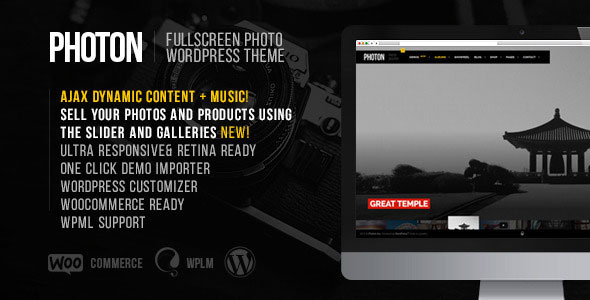 Photon - Fullscreen Photography WordPress Theme