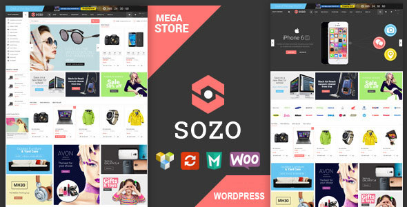 SOZO v1.0 - Full Screen Mega Shop Theme