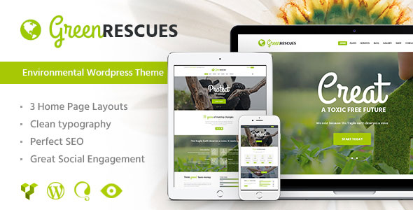 Green Rescues v1.3 - Environment Protection Theme