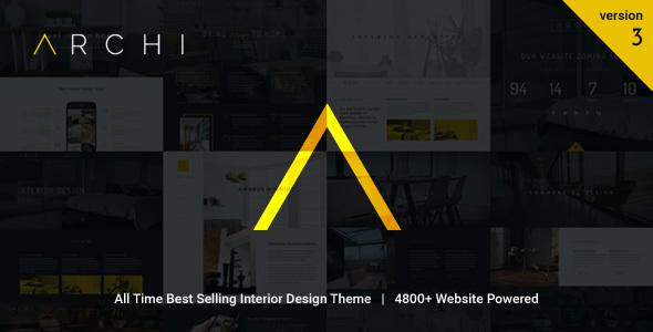 theme格式主题_Archi 室内设计装修装潢公司 WordPress主题 | weidea